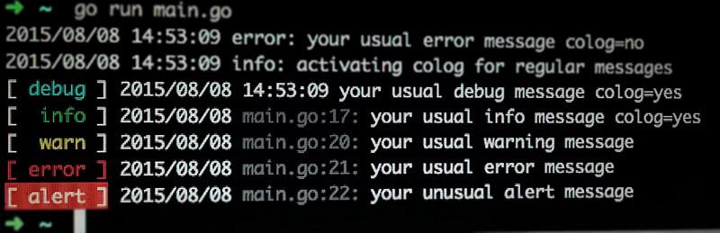 CoLog: prefix-based leveled logging for Go
